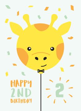 Giraffe Second Birthday