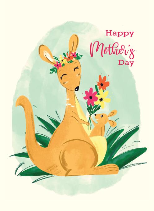 Mum and bub Kangaroo
