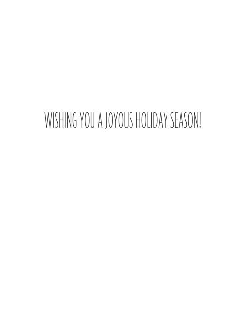 Joyous Holiday Season