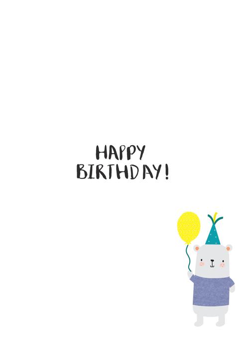 Son Happy Second Birthday Bear Card
