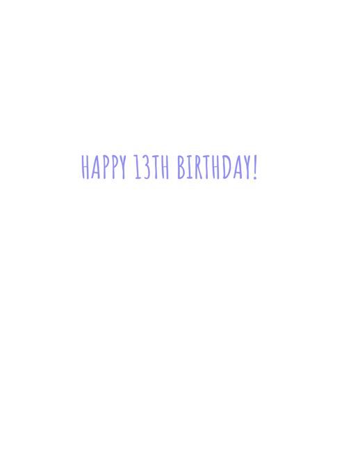 Birthday Teen 13